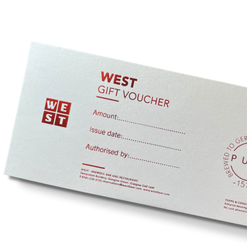 WEST on the Green Gift Voucher